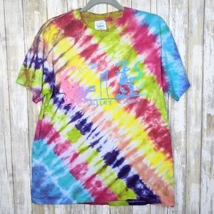 Vtg '90 Florida Single Stitch Custom Tie Dye Lg